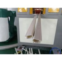PVC window glass clamping profile making machine tested successfully