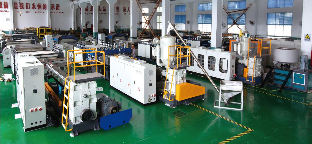 Tongsan PP hollow sheet machine workshop