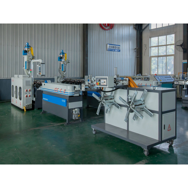 CE certificated high speed Plastic Single Wall Corrugated Pipe Extrusion and Forming Machine manufacturer