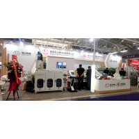 Chinaplast exhibition showing our machines working lively