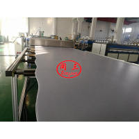 S type PP Hollow Sheet Extrusion machine Line tested successfully