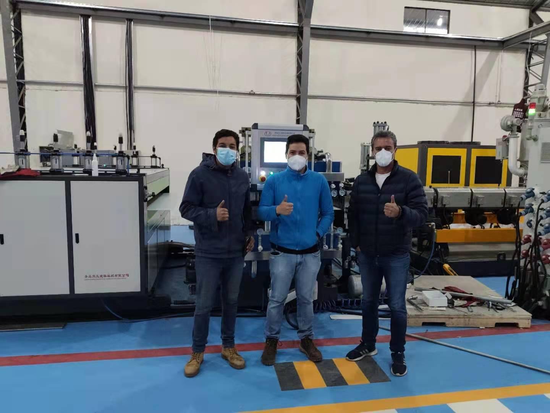 Tongsan PP corrugated sheet machine installed in Ecuador