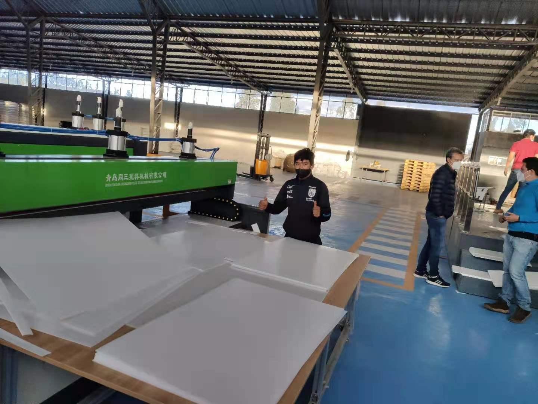 Tongsan PP flute sheet machine working in Ecuador