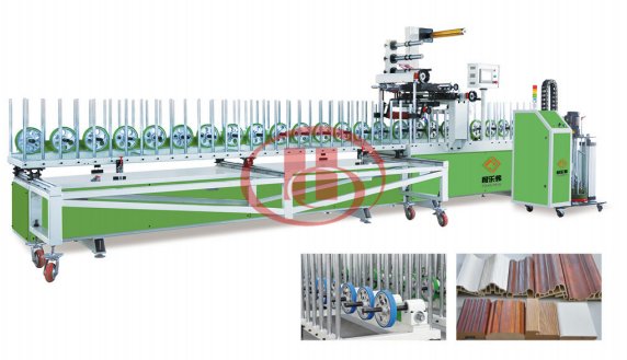 WPC door frame lamination machine