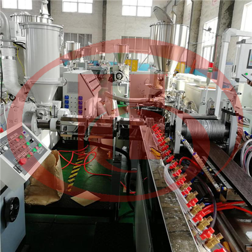WPC decking co-extrusion machine