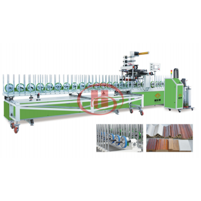 PUR lamination machine for WPC door frame