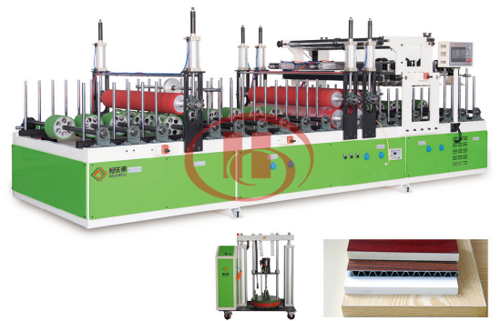 WPC door panel lamination machine