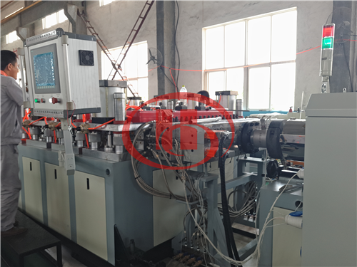 WPC solid board extruon line