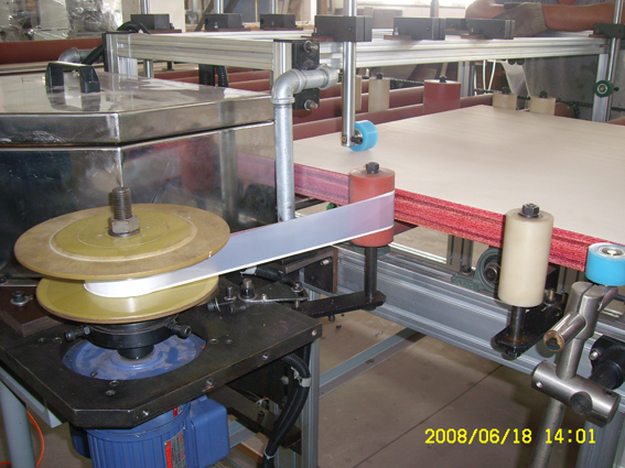 Edge side hot stamping for WPC door panel