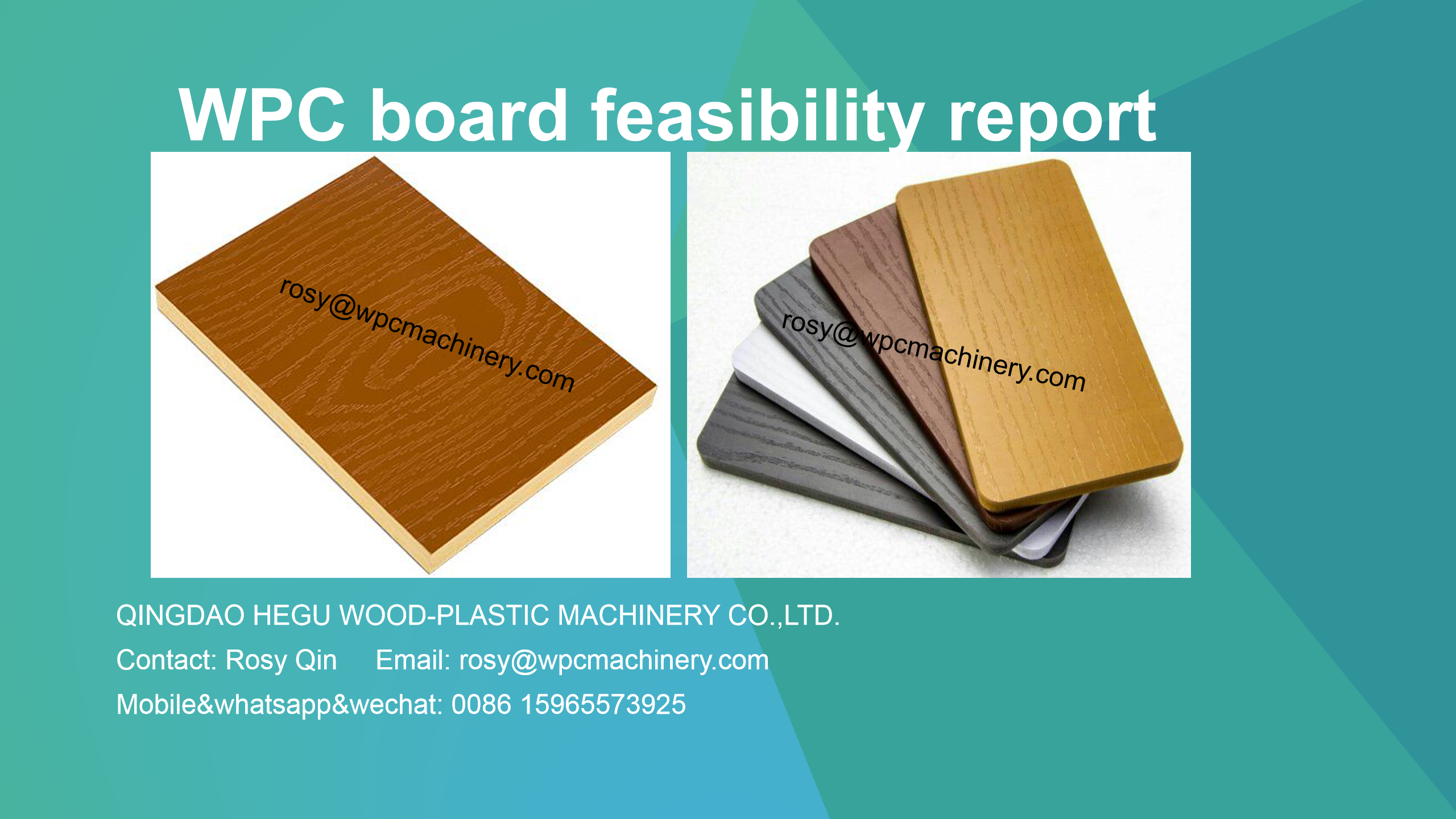 WPC board manufacturing project report