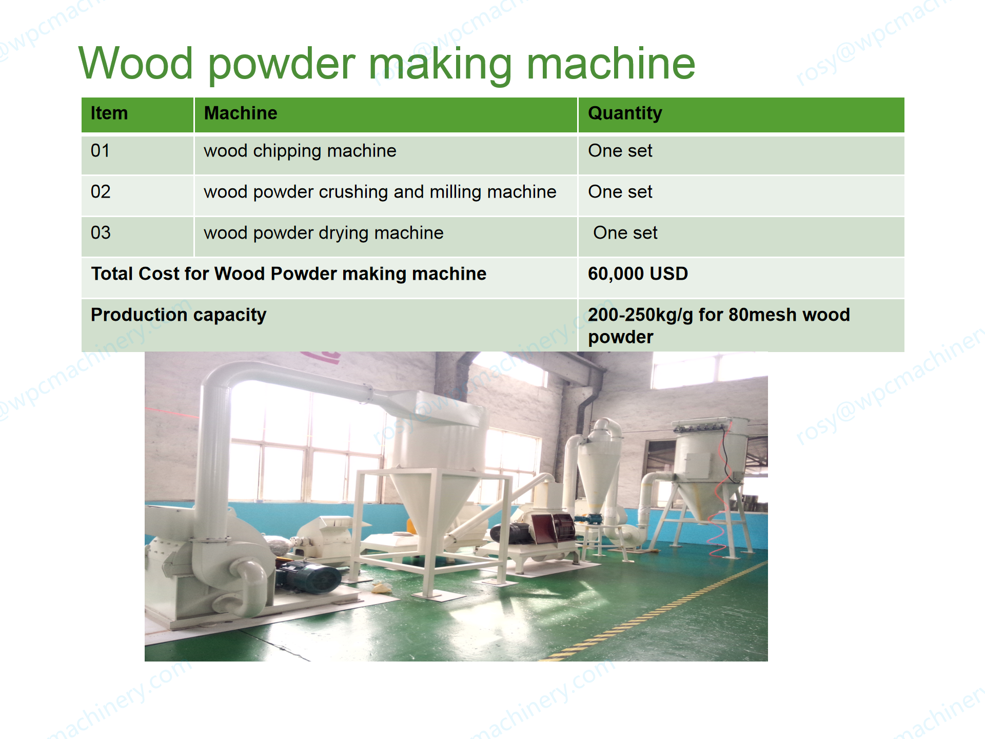 wood powder makng machine