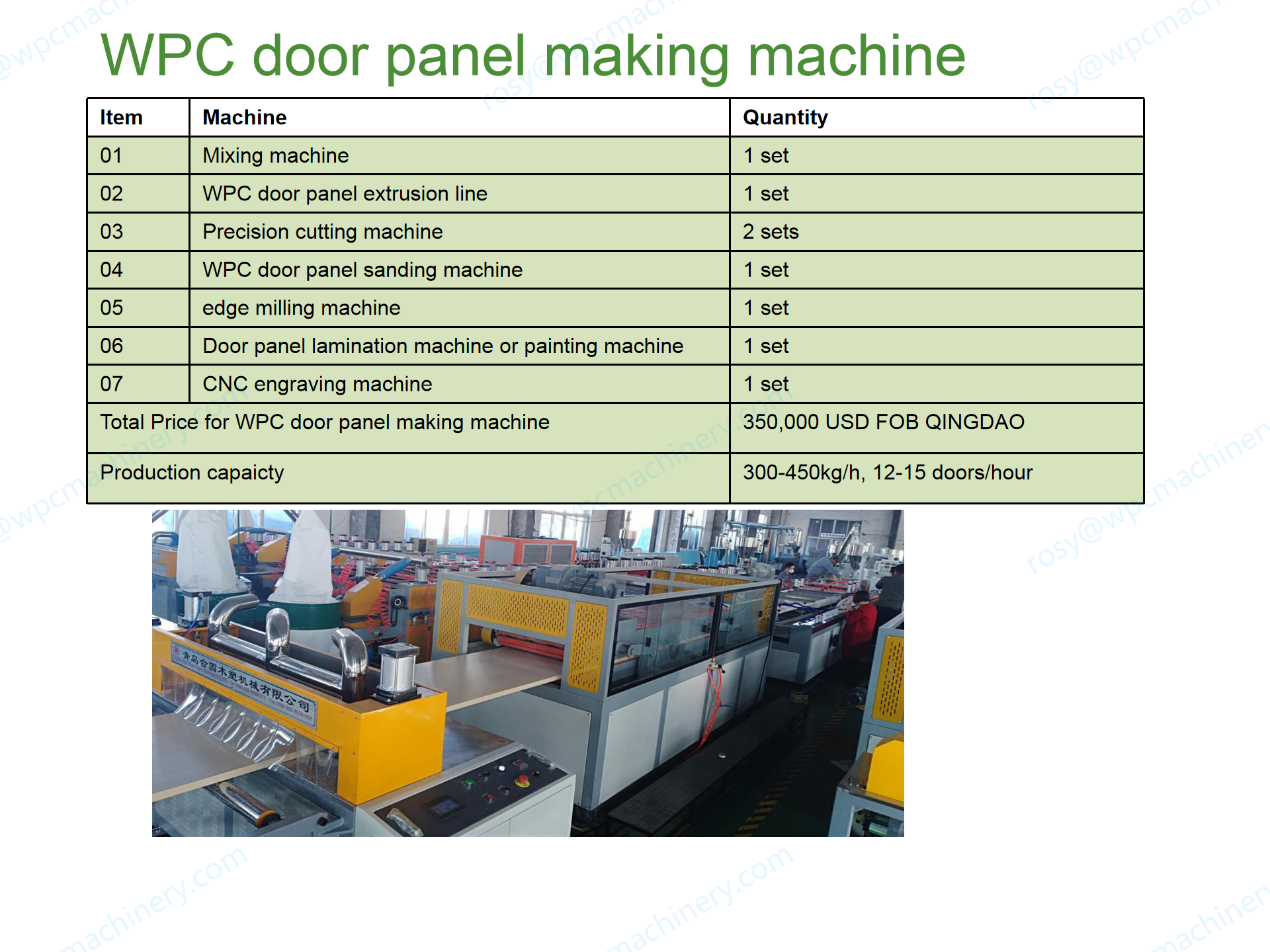 wpc door panel making machine