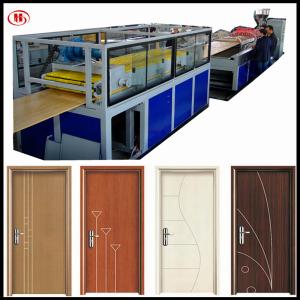 wpc doors manufacturing process PVC WPC door making machine manufacturer