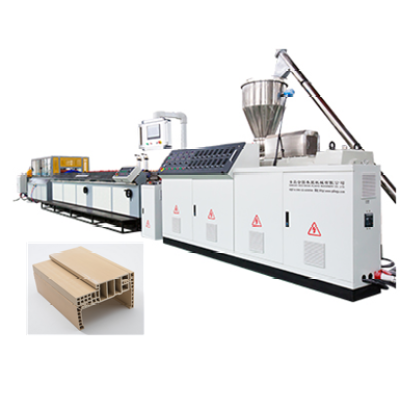 Wood Plastic WPC door frame machine PVC WPC door profile extrusion line