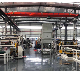 2100mm Multi-layer PC Transparent Sheet Extrusion Machine for making plastic hollow board