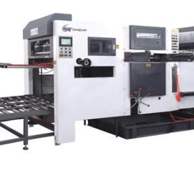 Automatic canton box die cutting and creasing machine for making PP hollow corrugated box shape
