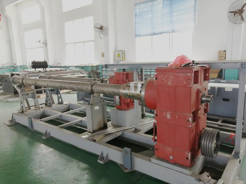 PP hollow corrugated sheet machine extruder