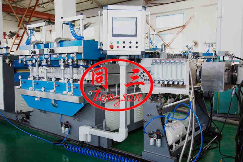 PP hollow corrugated sheet calibrating table
