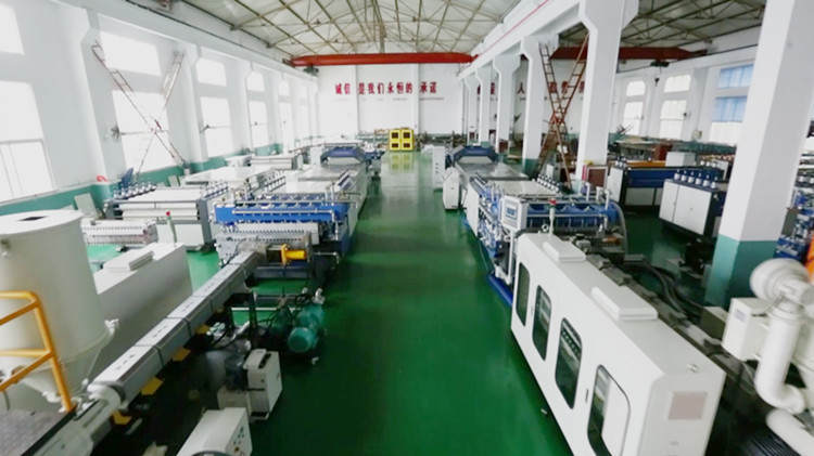 Tongsan PP corrugated sheet machine workshop