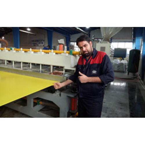 Tongsan 2600 type PP hollow corrugated sheet machine running in Iran customer factory