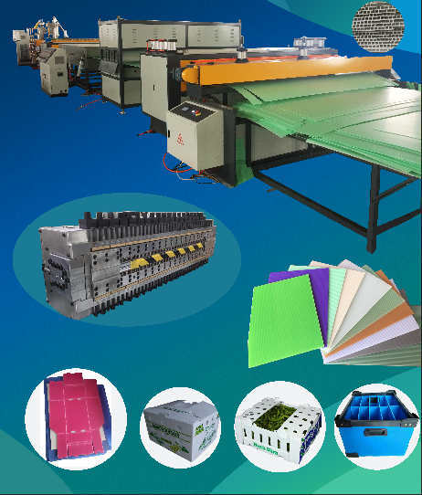 PP PE PC Plastic Hollow Corrugated Panel Making Extruder Machine Manufacturer