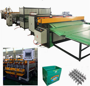 tongsan plastic  hollow corrugated sheet machine