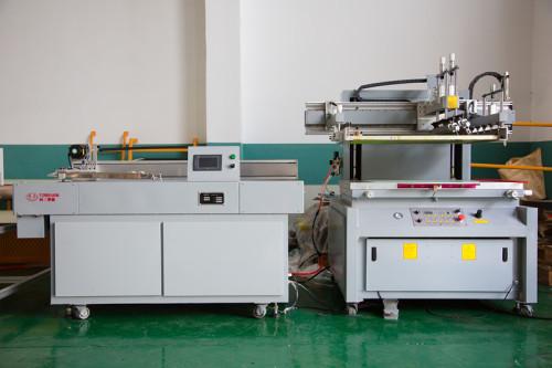 Impression d'écran en soie plate semi-automatique pour le panneau ondulé de boîte de feuille de pp