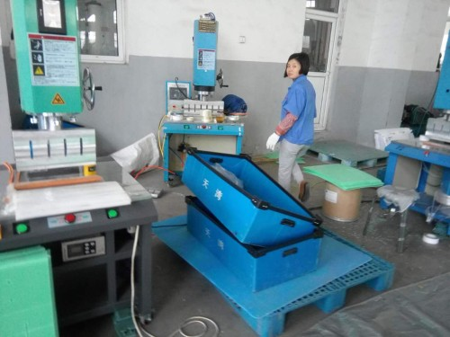 Tongsan Ultrasonic welding machine for PP corrugated sheet box