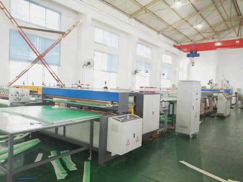 1220mm co-extrusion plastic  pp pe pc hollow corrugated sheet making machine  manufacturer