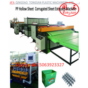 PP PE PC Hollow corrugated sheet  making machine manufacturer in China