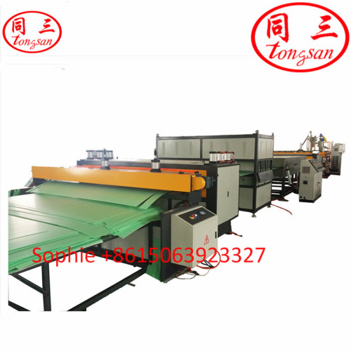 Tongsan Plastic PP PE PC Hollow Corrugated Sheet Extrusion Machine manufacturers In China