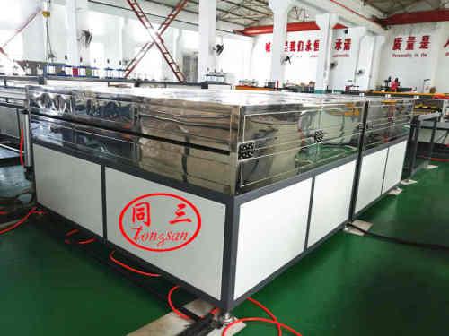 2100mm  coextrusion feuille ondulée creuse en plastique faisant la machine