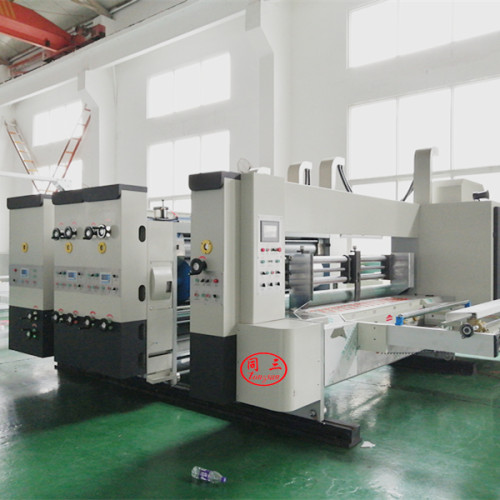 Automatic die cutting  and printing machine installation for testing