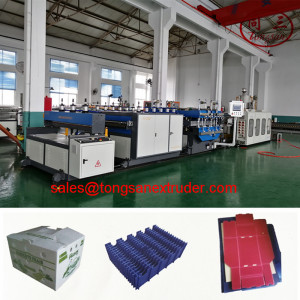 Tongsan PP hollow corrugated sheet manufacturing machine