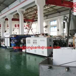Tongsan PP Plastic hollow corrugated sheet board extruder making machine