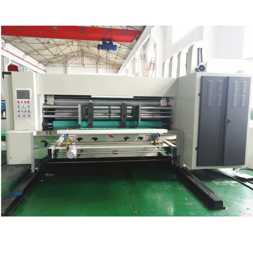 PP corrugated sheet automatic printing machine testing before delivery to Dominica