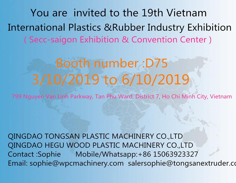 the 19th Vietnam International Plastics &Rubber Industry Exhibition