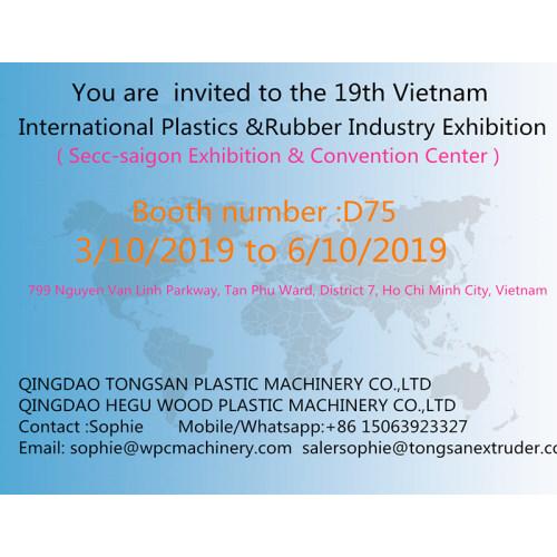 Tongsan attent the 19th Vietnam International Plastics &Rubber Industry Exhibition