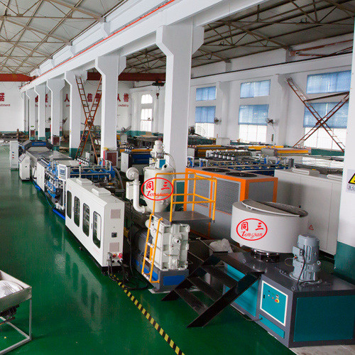 Tongsan plastic  PC hollow corrugated greenhouse board making machine for sale