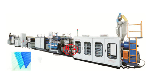2300mm plastic  PC hollow corrugated sheet making machine production line price