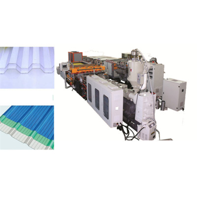 Tongsan PC wave hollow corrugated sheet solar panels making machine manufacturer  price