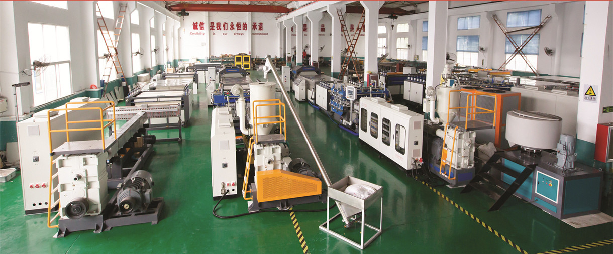 plastic hollow corrugated sheet making machine workshop