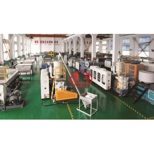 Tongsan Co-extrusion plastic pp pe pc hollow corrugated sheet making machine for sale