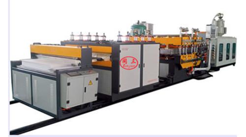 Hot sale PE corrugated hollow printing sheet  making machine price