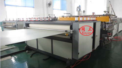 2100mm single screw extruder SJ120  PE hollow corrugated sheet  extrusion line price