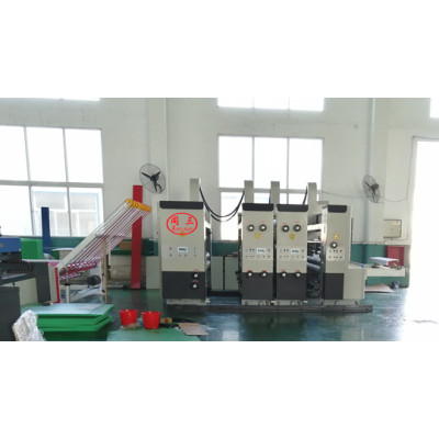 Plastic corrugate sheet high speed double color printer for fruit box making
