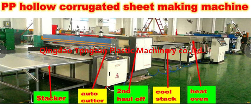 Plastic hollow corrugated board making machines