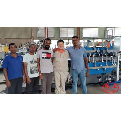 PP corrugated sheet machine runing well in Sri Lanka customer's factory