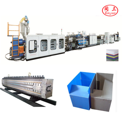1200mm  pp pe pc plastic corrugated board making machine