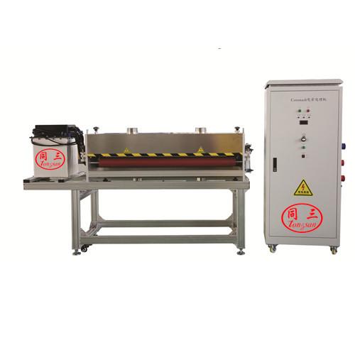 Corona treatment machine for PP corrugated sheet making